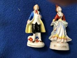 Vintage Pair Of Victorian Man And Lady Woman Figurines Occupied Japan