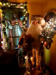 Stunning Antique Santa 6'2 Out Of Store Window In Newyork.no Shipping,must Pick