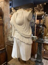 Antique Life Size Hand Carved Marble Torso Andldquomarc Anthonyandrdquo 18th C.statue