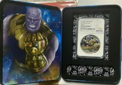 2018 Marvel Avengers Infinity War - Thanos 2 Oz. Silver Coin Ngc Pf69 Antiqued