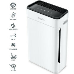 H13 Hepa Air Purifier Large Room Air Cleaner For Wildfire Smoke Allergies Dust