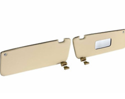 Sunvisor And Clips Set For Mercedes R107 W107 C107 Cream Color