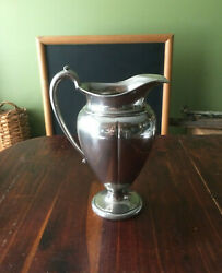 Vintage Crescent Silver Mfg. Co Large Footed Urn Style Pitcher