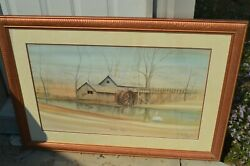 P Buckley Moss Limited Edition Signed Morning Visitor Print Framed Sold Out Rare
