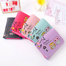 Cute Womens Small Wallet Leather Short Trifold Card Holder Mini Money Purse Bag $7.99
