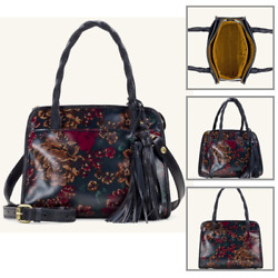 Patricia Nash Women#x27;s Fall Tapestry Satchel Handbags Leather Bag Multicolor NEW $169.99