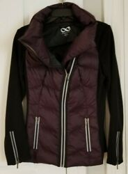 Be Boundless Quilted Puffer Jacket Size S, Plum/black, New Nwot