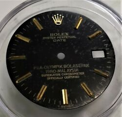 Rare Vintage Rolex Oyster Perpetual Date Double Signed Dial, Ref 1500 1501