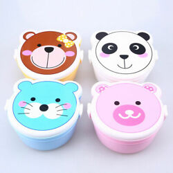 US Double Layer Lunch Box Kids Microwave Oven Bento Food Container Portable Box $4.93