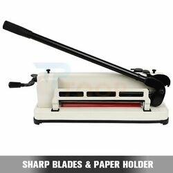 Paper Cutter 17 Inch Heavy Duty Paper Scrap Metal Base Guillotine Commercial