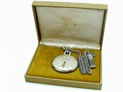 Cal. 972 Vintage Pocket Watch 17 Jewels 1960's Excellent From Japan F/s