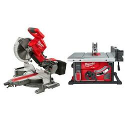 Milwaukee Miter Saw 18-volt 10 In Cordless Dual Bevel Sliding Compound Table Saw