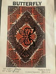 Hippie Throw Wall Hanging Dorm Decor butterfly Sign Tapestry