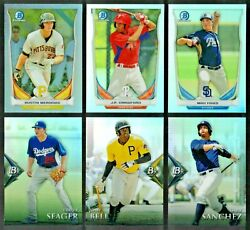 2014 Bowman Chrome+draft+platinum Refractor Red+blue+green+wave-1st Rc-you Pick
