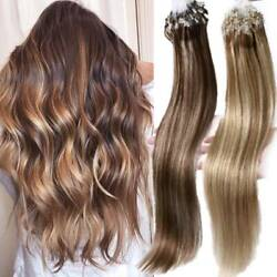 200s 100 Real Remy Human Hair Extensions Easy Micro Loops Ring Nano Beads Us T8