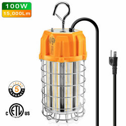 100w Led Temporary Construction Hanging Work Light Fixture Daylight 14500lm Us
