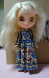 Vintage 1972 Blythe Blonde Pretty Paisley Original Dress Doll Toy Collection Jp