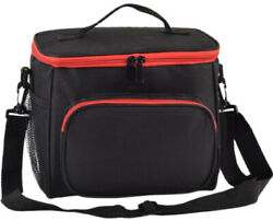 Adult Lunch Box Insulated Lunch Bag Large Cooler Tote Bag for Men Women Black $10.18