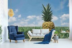 3d Pineapple Blue Sky Wallpaper Wall Mural Removable Self-adhesive Sticker