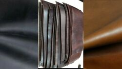 Leather Hideanddry Squares Crazy Horse 9/10 Oz Black-bourbon Brown-whisky Tabaco