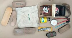 V Rare Vintage Shoe Cleaning Brush Joblot Collection -includes Advertising Items