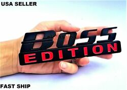 Boss Edition Black Fit All Models Car And Truck Logo Custom Emblems Letters Rear