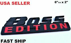 The Boss Edition Black Fit All Car Truck Tailgate Back Rear Logo Custom Emblem