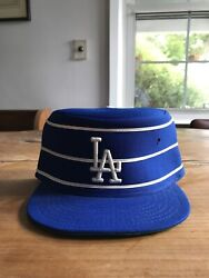 Vintage Deadstock Los Angeles Dodgers Pillbox Fitted Hat Cap Size 7 Mlb 1976