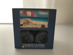 NEW Yankee Candle 12 Count Scented Tea Lights Beach Vacation