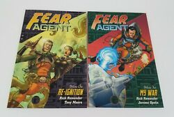 Dark Horse Comics Fear Agent Vol 1 And 2 Re-ignition And My War 2007 1st Editions