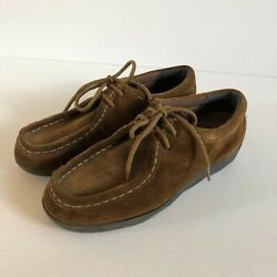 Womens Rockport Shoes Wallabees Chucka Leather Size 7w Brown Eu 38