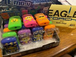 Lot Of 6 Eagle Torch Lighters With Emojil Unique Designs