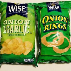 Wise Onion And Garlic Potato Chips Large 8.75oz Bag