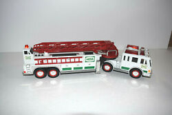 2000 Hess Gas Station Toy Fire Truck With Sounds And Lights