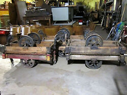 Antique Furniture Factory Cart-industrial Railroad-coffee Table Lineberry