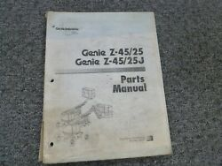 Genie Z45/25 And Z45/25j Articulating Boom Aerial Lift Parts Catalog Manual