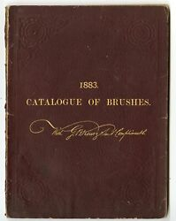 1883 Antique Catalogue Of Brushes Painting Grooming Commercial