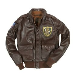 Cockpit Usa Flying Tigers 23rd Fighter Group Jacket Brown Usa Made