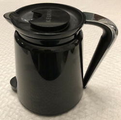 Used Keurig 2.0 Replacement Thermal Carafe 32oz Black With Chrome Silver Handle