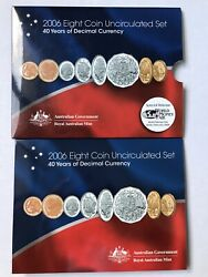 2006 Royal Australian Mint Unc Coin Set Wmf Berlin 40 Years Of Decimal Currency