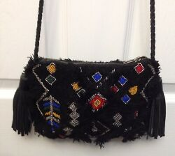 CLEVER CARRIAGE COMPANY® Designer Black Beaded Knit Cross Body Purse $79.99