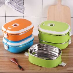 Portable Food Warmer Kids School Lunch Box Thermal Insulated Food Box Container $21.30