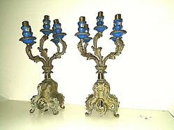 Antique Candelabras Set French Louis Xv Top Bottom Parts Or Repair