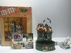 Dept 56 M And M Halloween Ceramic Candy Dish Spooky House Lights Up