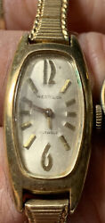 Lot Of 2 Women's Gold Toned Watches Elgin And Westclox W2-06