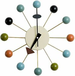 George Nelson Clock Designer Wall Ball Clock Multicolor From Japan New Fs