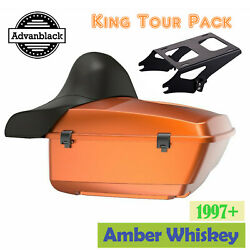 Advanblack Amber Whiskey King Tour Pak Pack Black Hinges And Latch For 97+ Harley