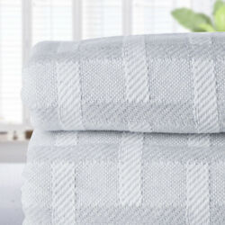 New Brahms Mount Wicker Wool And Cotton Blanket King Grey