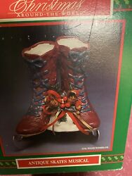 Antique Ice Skates Music Box House Of Lloyd  Christmas Around The World In Box