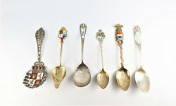 Sterling Silver Assorted Souvenir Spoons 6